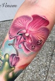 多款彩绘水彩素描创意文艺唯美精致花朵纹身图案