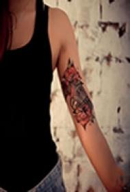 精美艺术手臂纹身