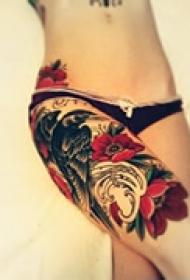 艺术个性花腿纹身