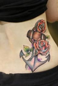 炫彩艺术腰部纹身