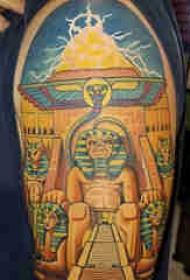 古埃及纹身 男生手臂上古埃及纹身图片