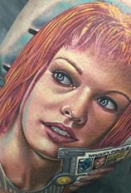 恐怖纹身 多款恐怖彩色人物纹身图案