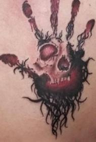 骷髅头纹身 男生背部骷髅头纹身图片