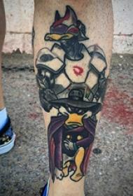 纹身卡通 多款简单线条纹身素描卡通可爱纹身图案