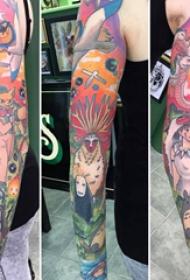 百乐动物纹身  女生手臂上彩绘的百乐动物纹身图片