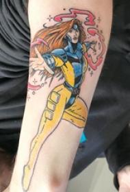 女生人物纹身图案  男生手臂上彩绘的人物纹身图片