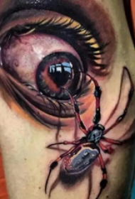 令人称奇的超逼真眼睛纹身图案