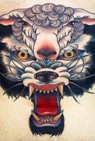 百乐动物纹身  女生腹部上彩绘的百乐动物纹身图片