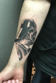 武士纹身 男生手臂上菱形和黑武士纹身图片