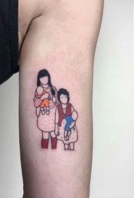把照片纹在身上   极具纪念性的照片纹身图案