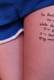 纹身腿上图案   创意百变的腿上纹身图案
