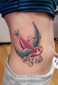 纹身鸟   自由翱翔的燕子纹身图案