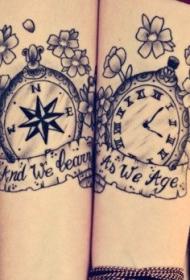 情侣纹身   简单却爱意满满的情侣纹身图案