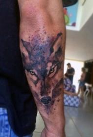 狼头纹身图片 凶猛机智的狼头纹身图案