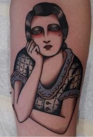 人物纹身图案女   形态各异的女生人物纹身图案