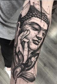 一套很优秀的手臂黑灰纹身作品图案