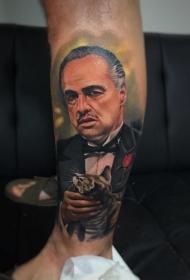 人物纹身图案   多款不同风格的人物肖像纹身图案