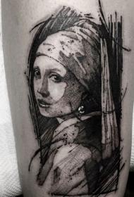 抽象纹身图案   多款抽象人脸纹身和抽象线条纹身图案
