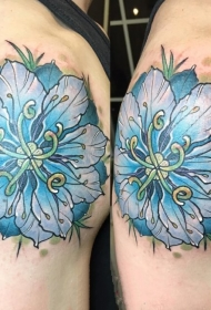 唯美纹身小图案   清新秀雅的花朵纹身图案