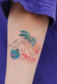 很可爱的一组适合女生的小彩色涂鸦等纹身作品