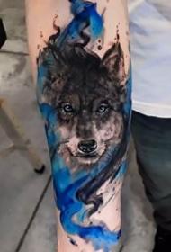 一组和狼头相关的狼纹身图片9张