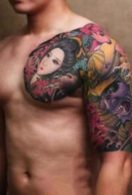 新传统半甲:9张新传统风格的半胛纹身图案