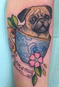 为爱宠定制的一组宠物纹身作品