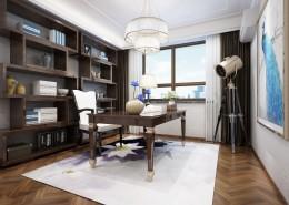 大气的书房装修设计图片(8张)