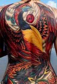 女性的一组美丽大满背纹身图片