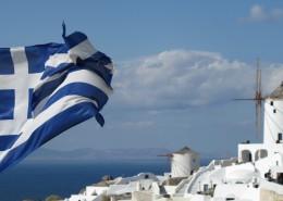 随风摆动的希腊国旗图片(10张)