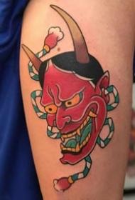 老传统的9张般若纹身作品图片