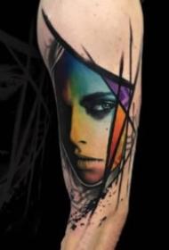 18组欧美暗黑女郎人像手臂纹身图案