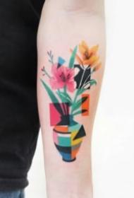 色块拼接的一组个性纹身图片