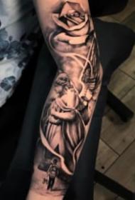 9张西方带翼守护天使的纹身图案