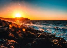 金黄的夕阳图片(15张)