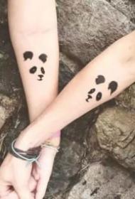 16组情侣恋人成对的好看小清新纹身欣赏