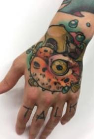 26张school风格的大花手背纹身图案作品