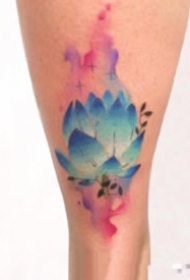 42组小清新水彩色纹身图案赏析
