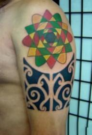 一组个人信仰的图腾纹身图片