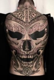 欧美超现实暗黑大满背纹身作品欣赏
