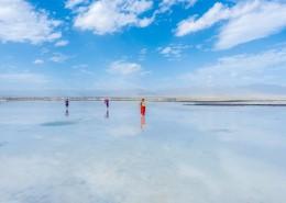 青海茶卡盐湖自然风景图片(9张)