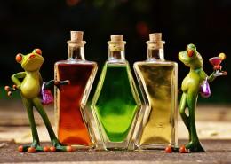 青蛙玩具与鸡尾酒放在一起图片(10张)