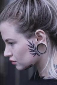头部面部的一组个性纹身作品