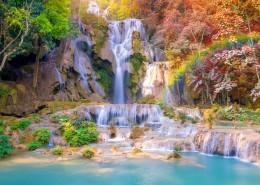 唯美的山间瀑布自然风景图片(9张)