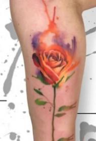 16组创意的水彩色小清新纹身图案