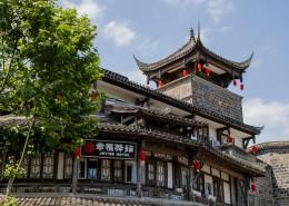 四川都江堰古老建筑风景图片(18张)