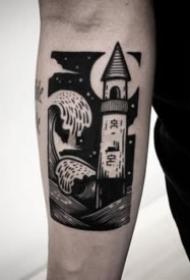 18组暗黑色的纹身作品图片欣赏