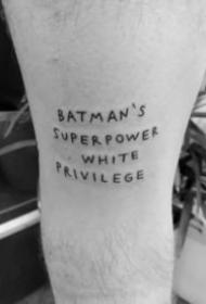 简单的一组9张英文字母短句纹身图片