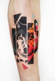 狼头主题的一组狼纹身图案赏析