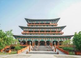 尼泊尔蓝毗尼中华寺中国寺庙建筑风景图片(8张)
